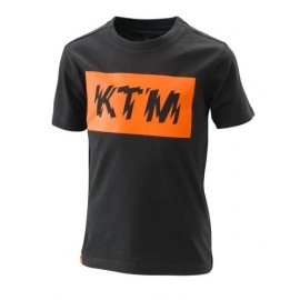 KIDS RADICAL LOGO TEE BLACK KTM